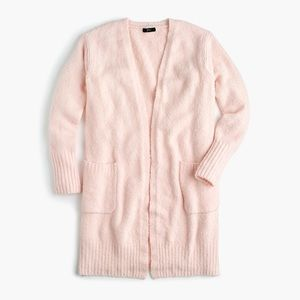 Jcrew long light pink Cardigan